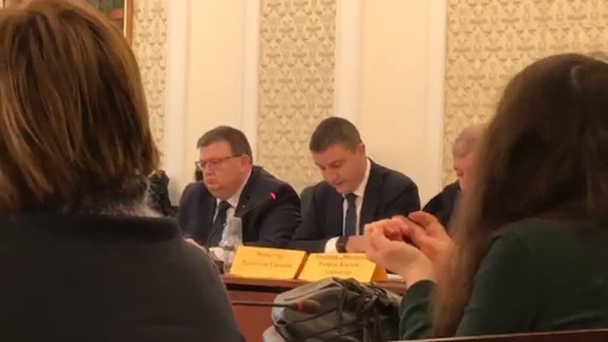 Министър Горанов говори пред НС за проблемите в БАЦИС