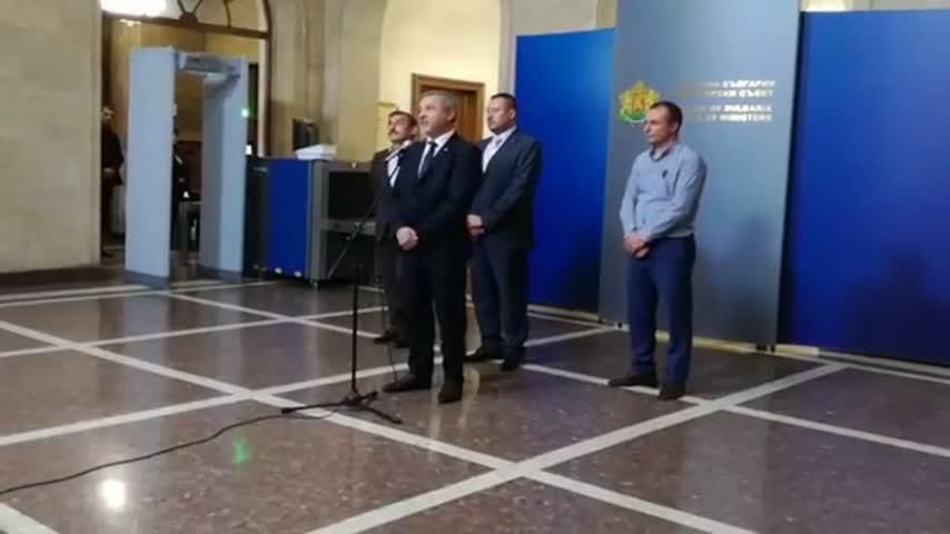 Изявление на вицепремиера Валери Симеонов