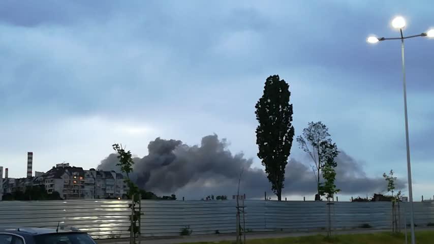 Пожар при складовете на Аванти